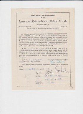 23: Ann Sothern 1909-2001, Signed Letter/Document Signe