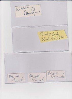 24: Collection Autograph Signatures Including Denver Py