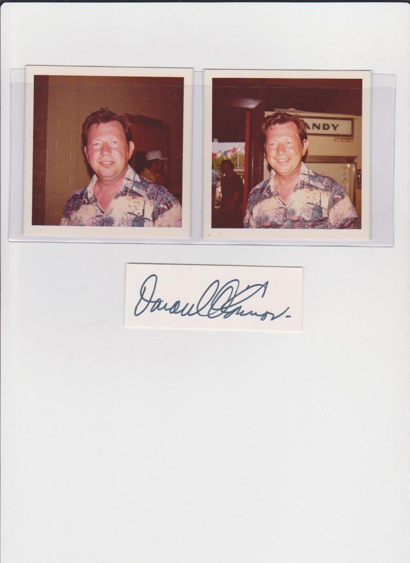 310: Donald O'Connor 1925-2003, Autograph Signature & 2