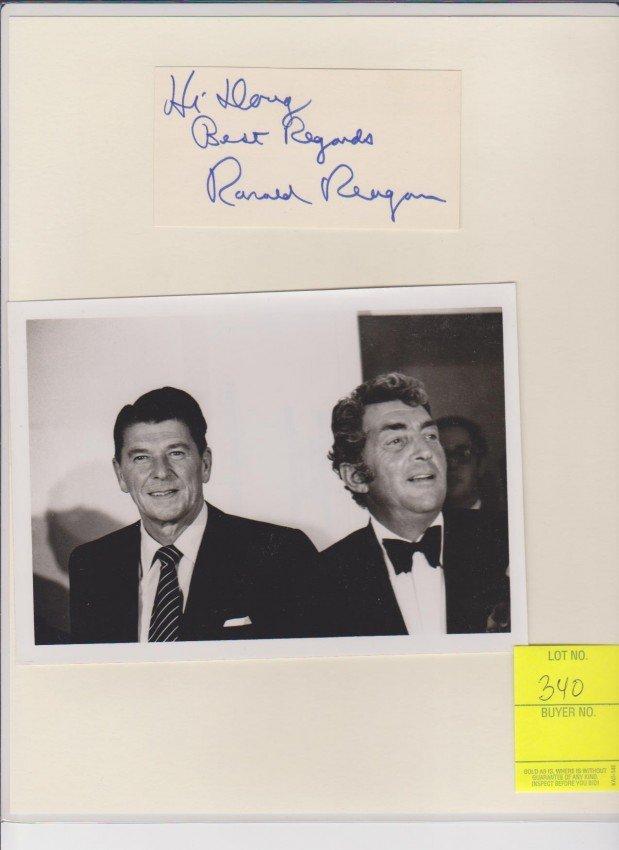 340: Ronald Regan 1911-2004, Autograph Signature with B