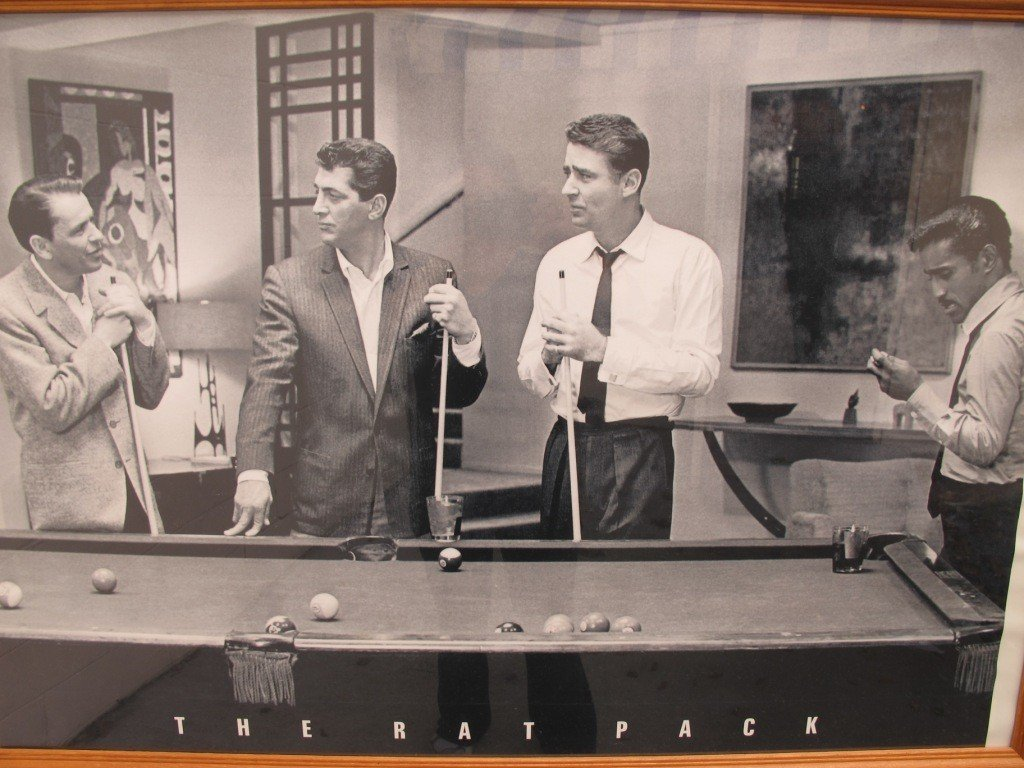 35: Framed Poster of The Rat Pack Playing Pool
