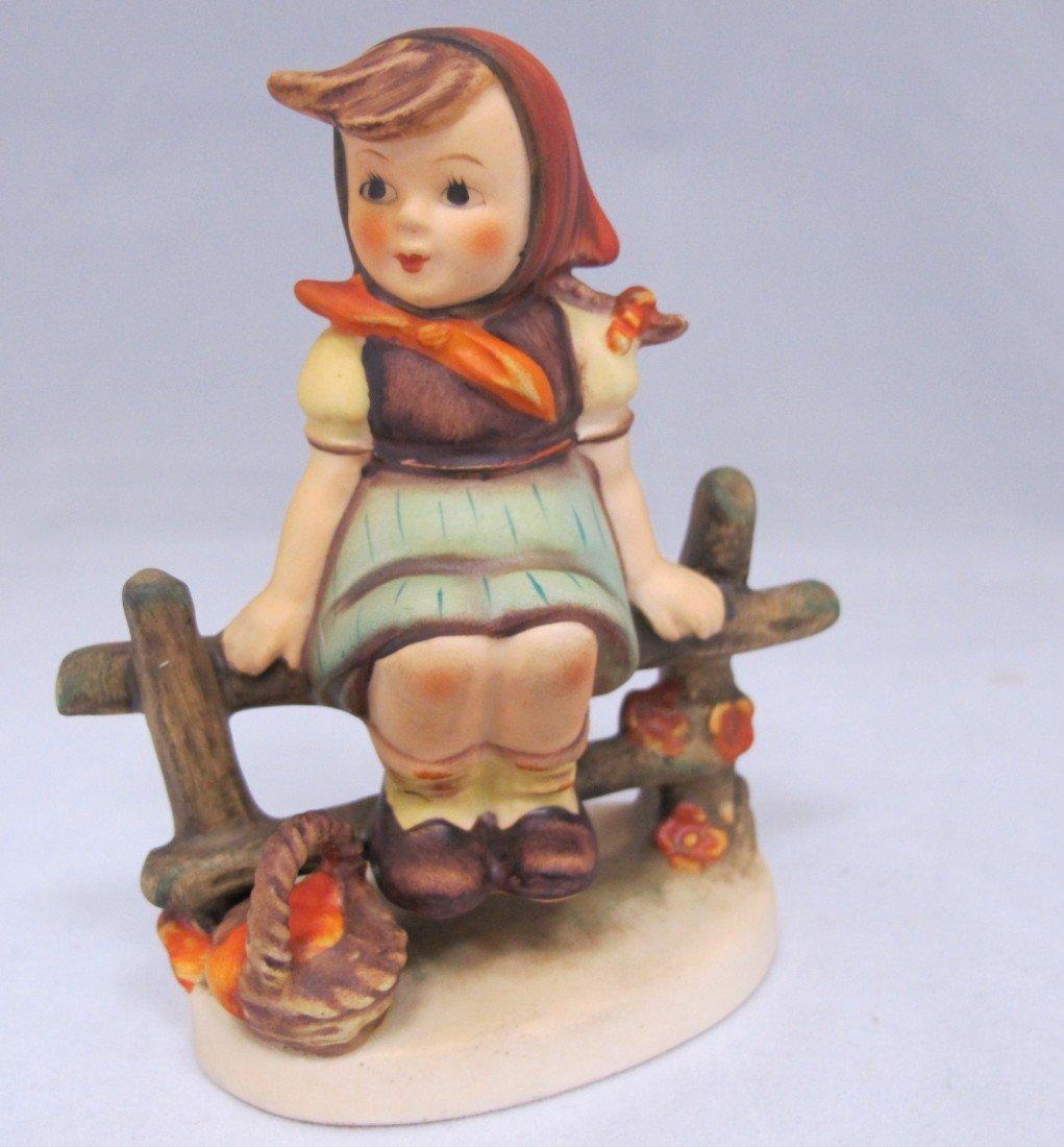 95: M.J. Hummel Figurine, Girl on Fence, 112 3/0, 1938