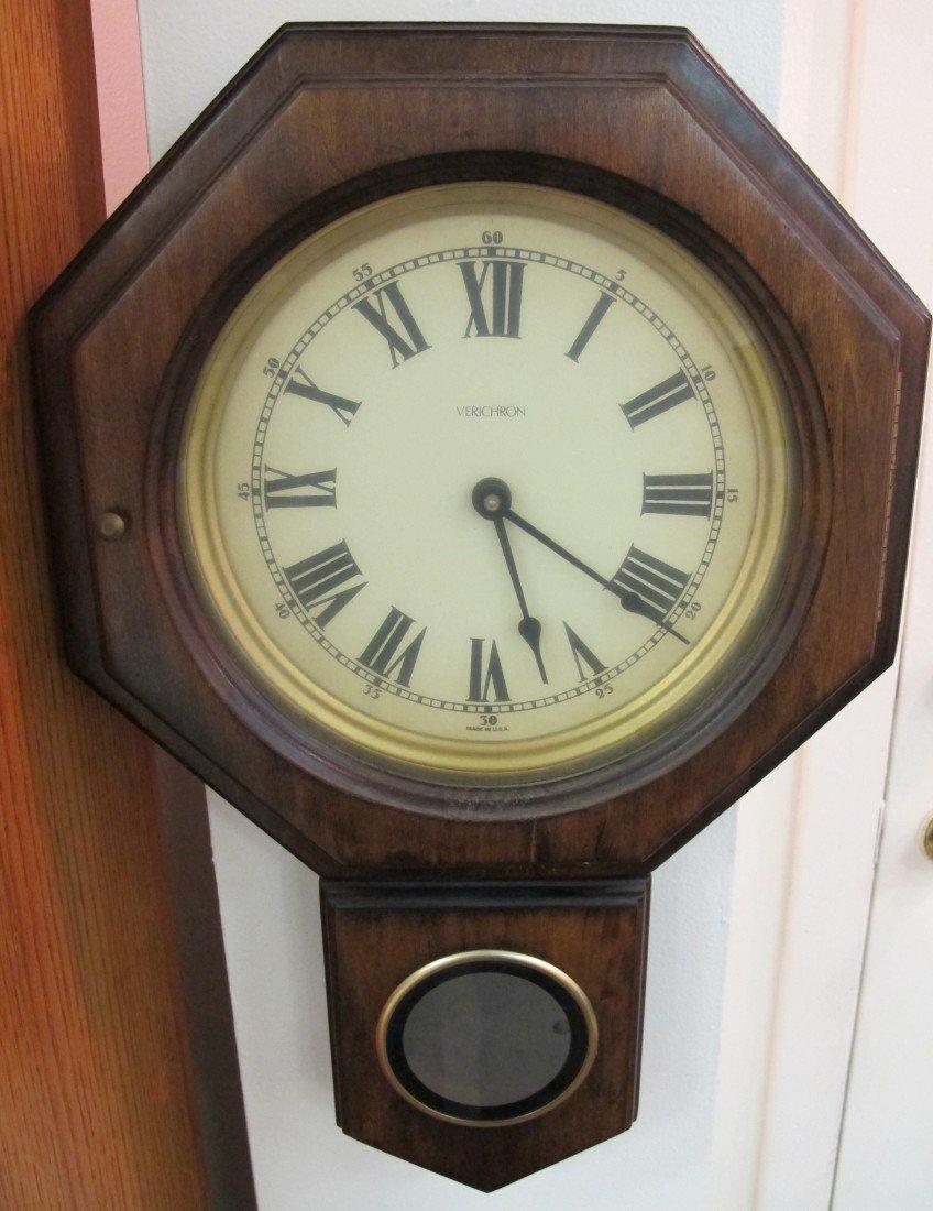 276: Verichron Regulator Wall Clock