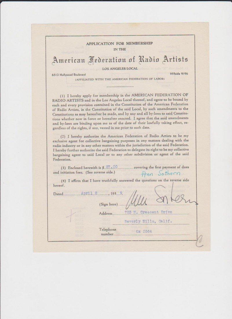 2: Ann Sothern 1909-2011, Signed Letter/Document Signed