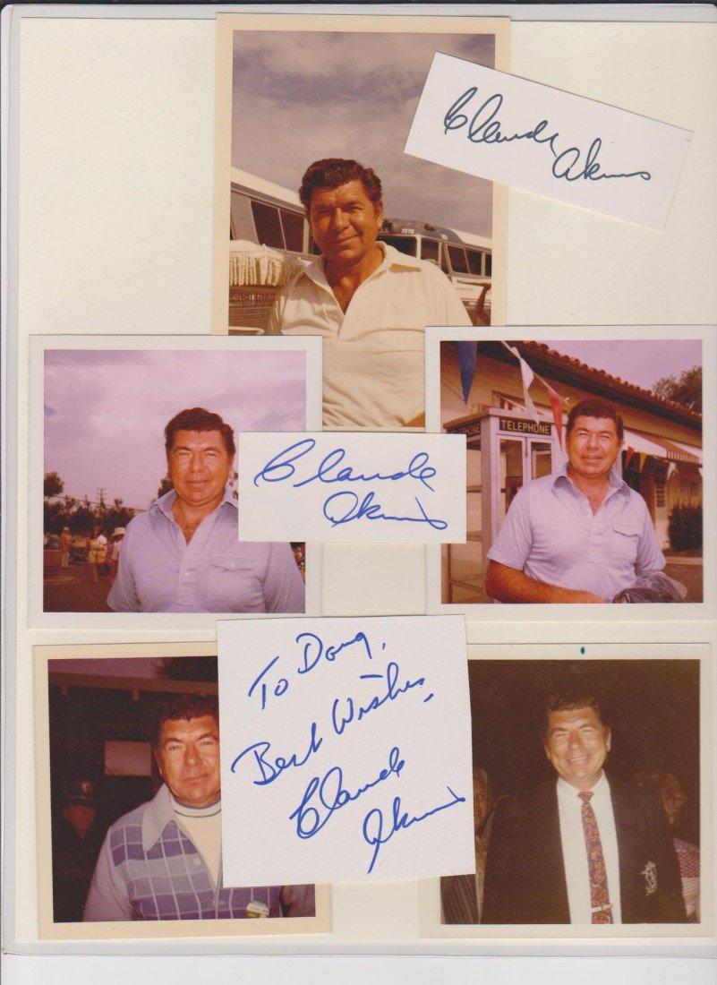 4: Claude Akins 1926-1994, 3 Autograph Signatures & Pho