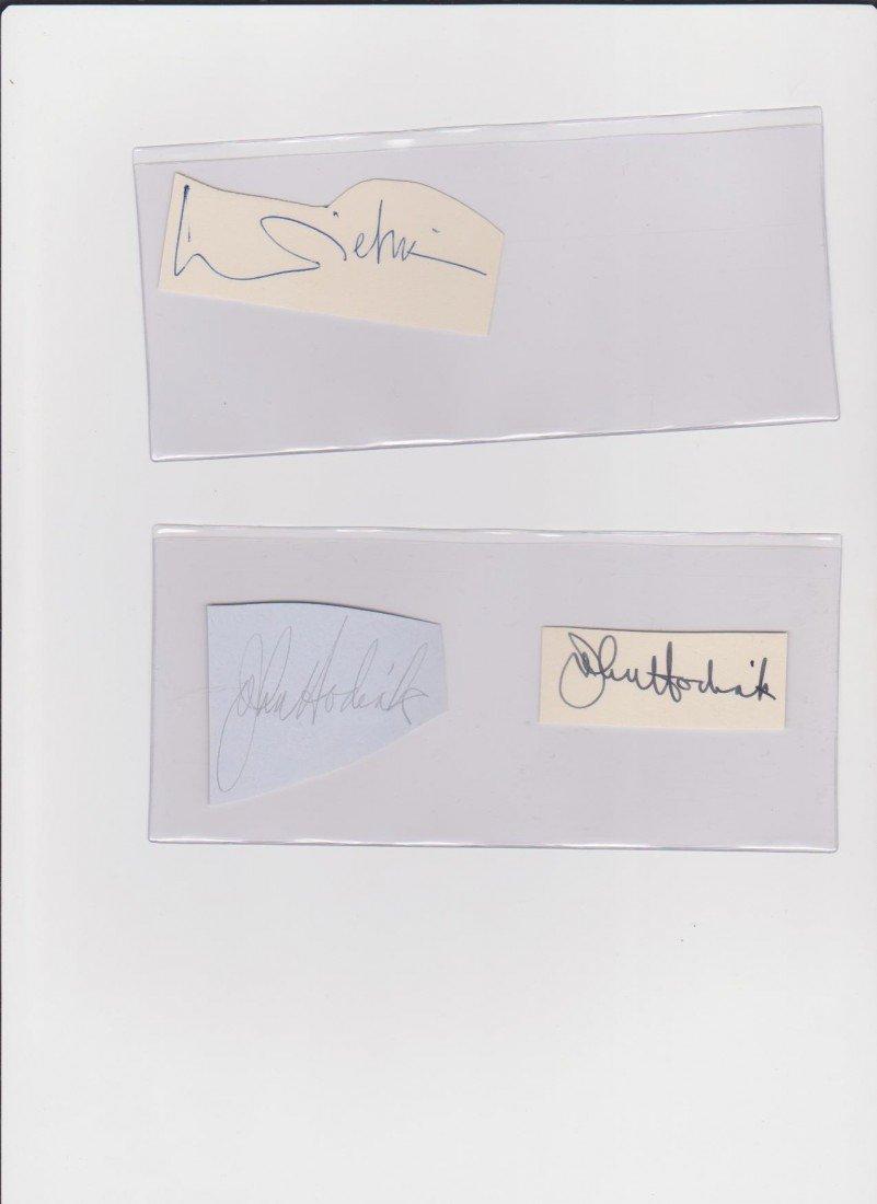 5: John Hodiak 1914-1955, 2 Autograph Signatures, Ameri