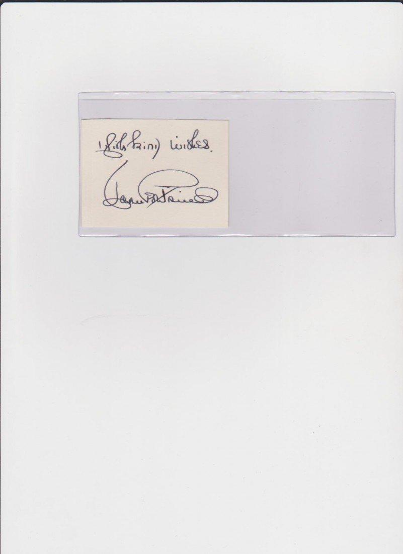 7: Joan Fontaine 1917, Autograph Signature, British Act