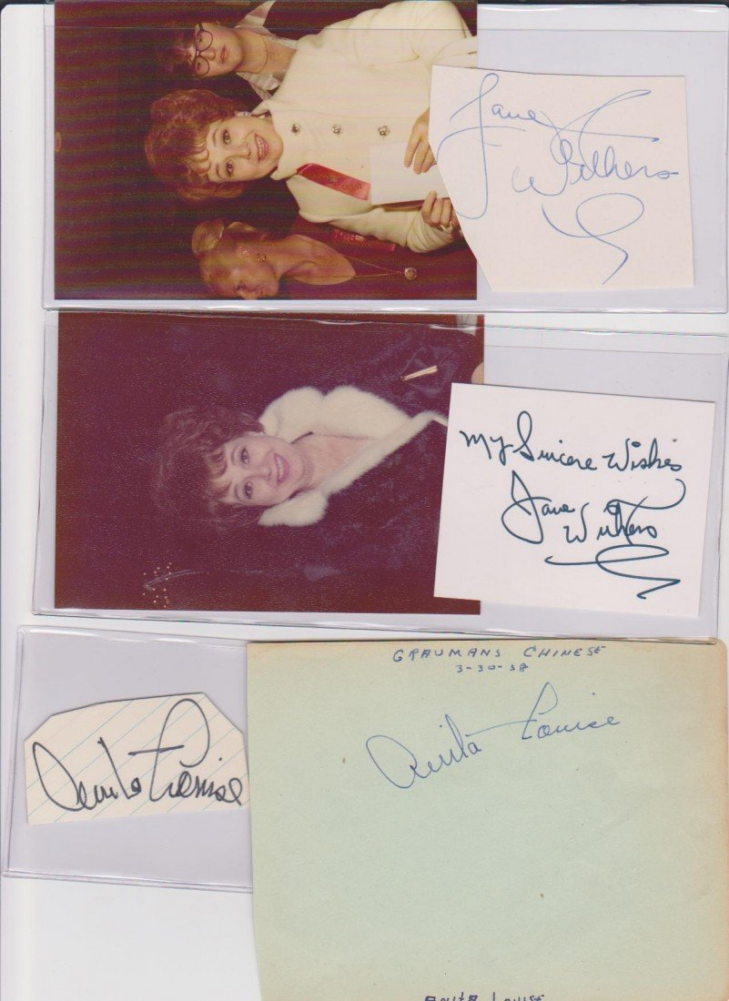 8: Jane Withers 1926, 2 Autograph Signatures & 2 Photos