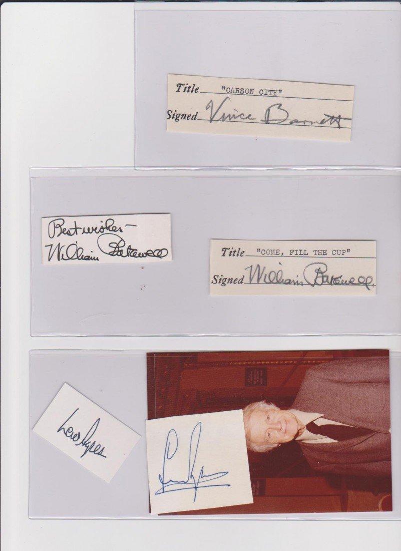 10: Vince Barnett 1902-1997 signed document American Ac