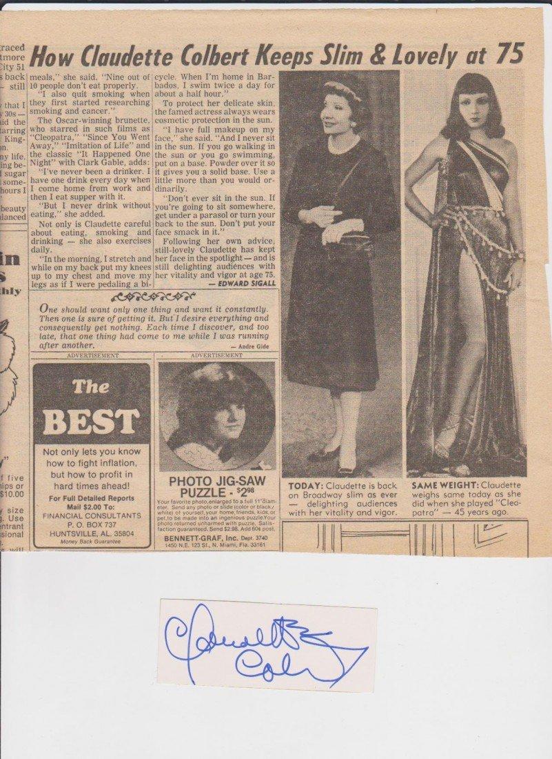 13: Claudette Colbert 1903-1996 French born american st