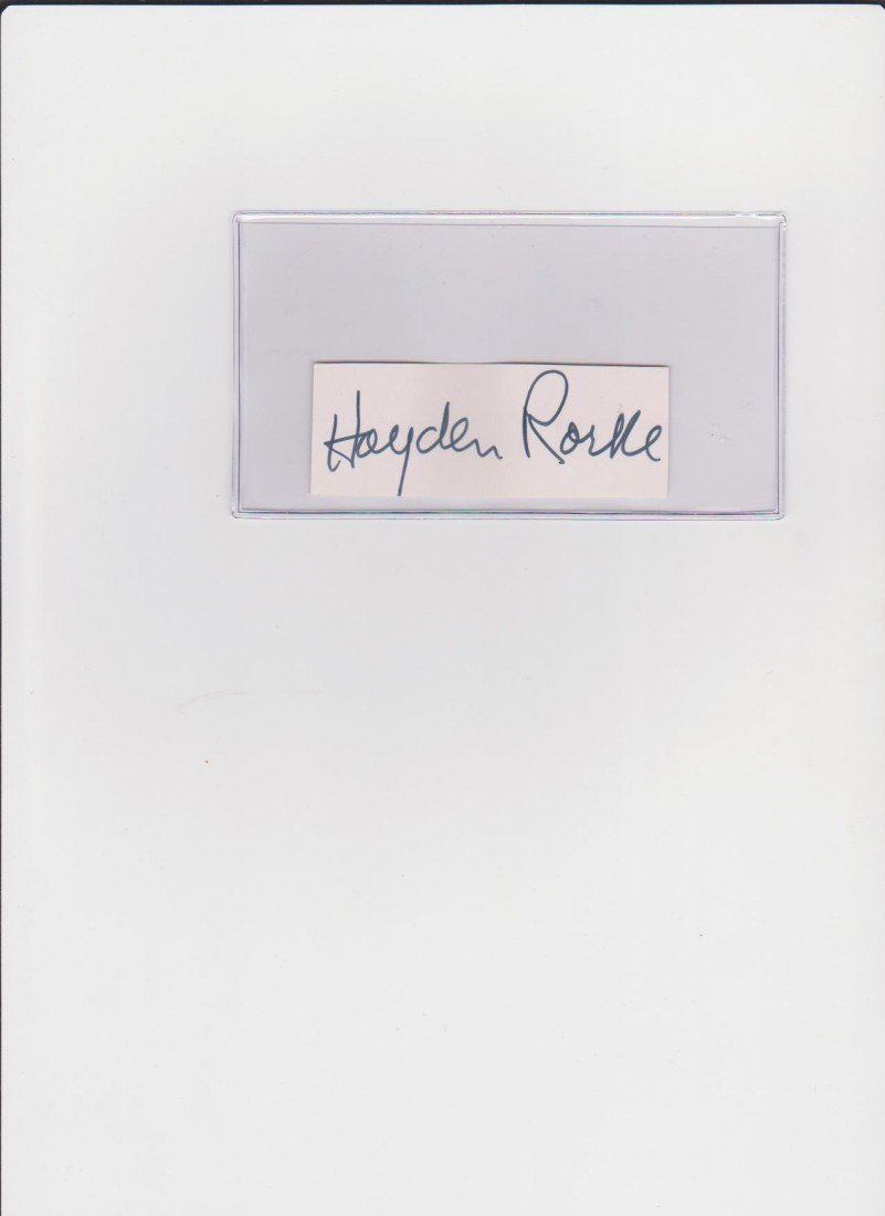 20: Hayden Rorke 1910-1987, Signature Autograph, Americ