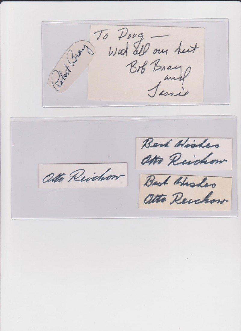 21: Robert Bray 1917-1983, 2 Autograph Signatures, Amer