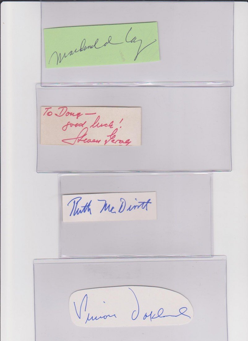 23: Collection of Autograph Signatures Including Macdon