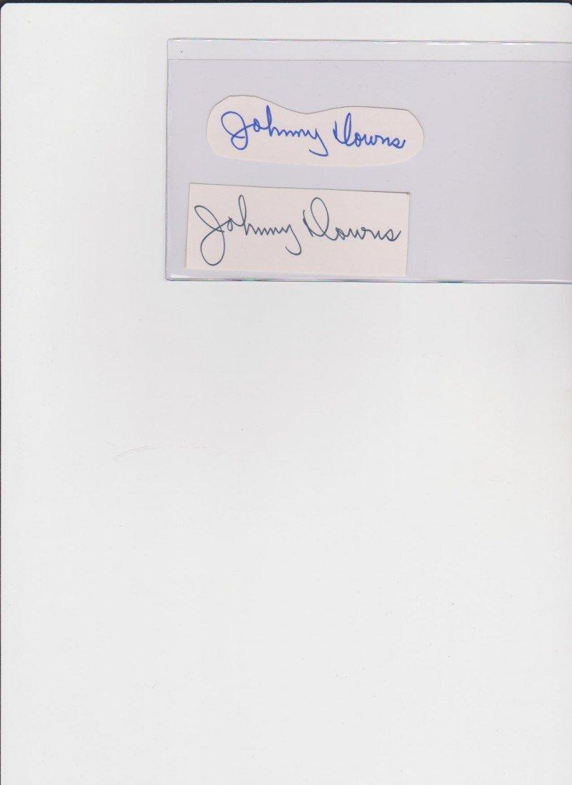 24: Johnny Downes 1913-1994, 2 Autograph Signatures, Am