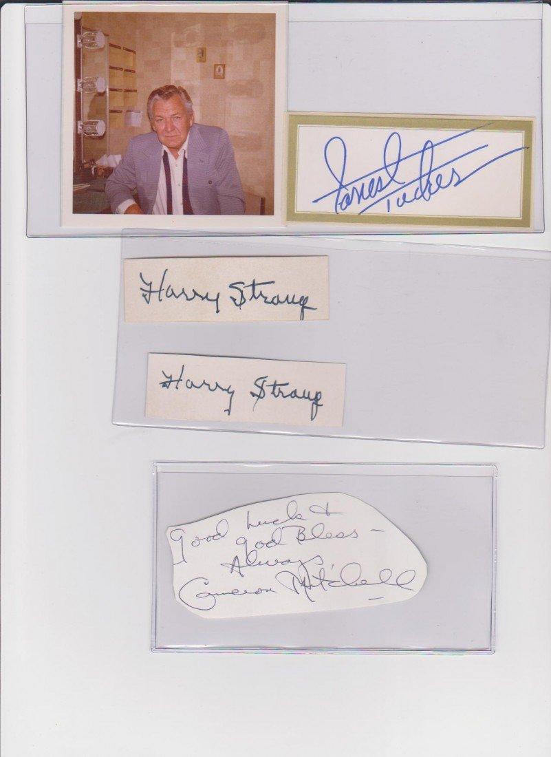 39: Forrest Tucker 1919-1986 autographed signature Amer