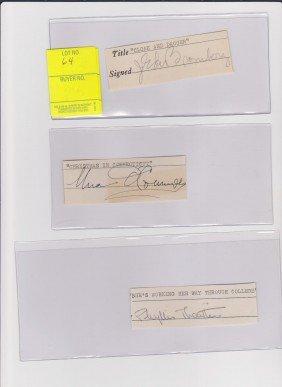 J. Edward Bromberg 1903-1951 Signed Document Hungar