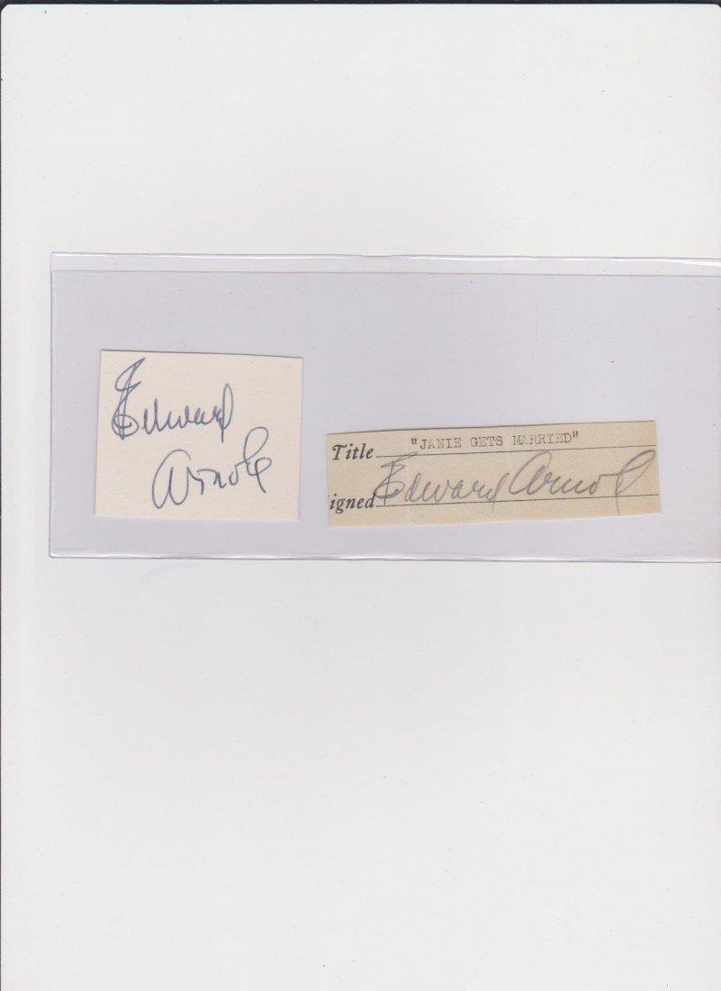 73: Edward Arnold 1890-1956, Signed Document & Autograp