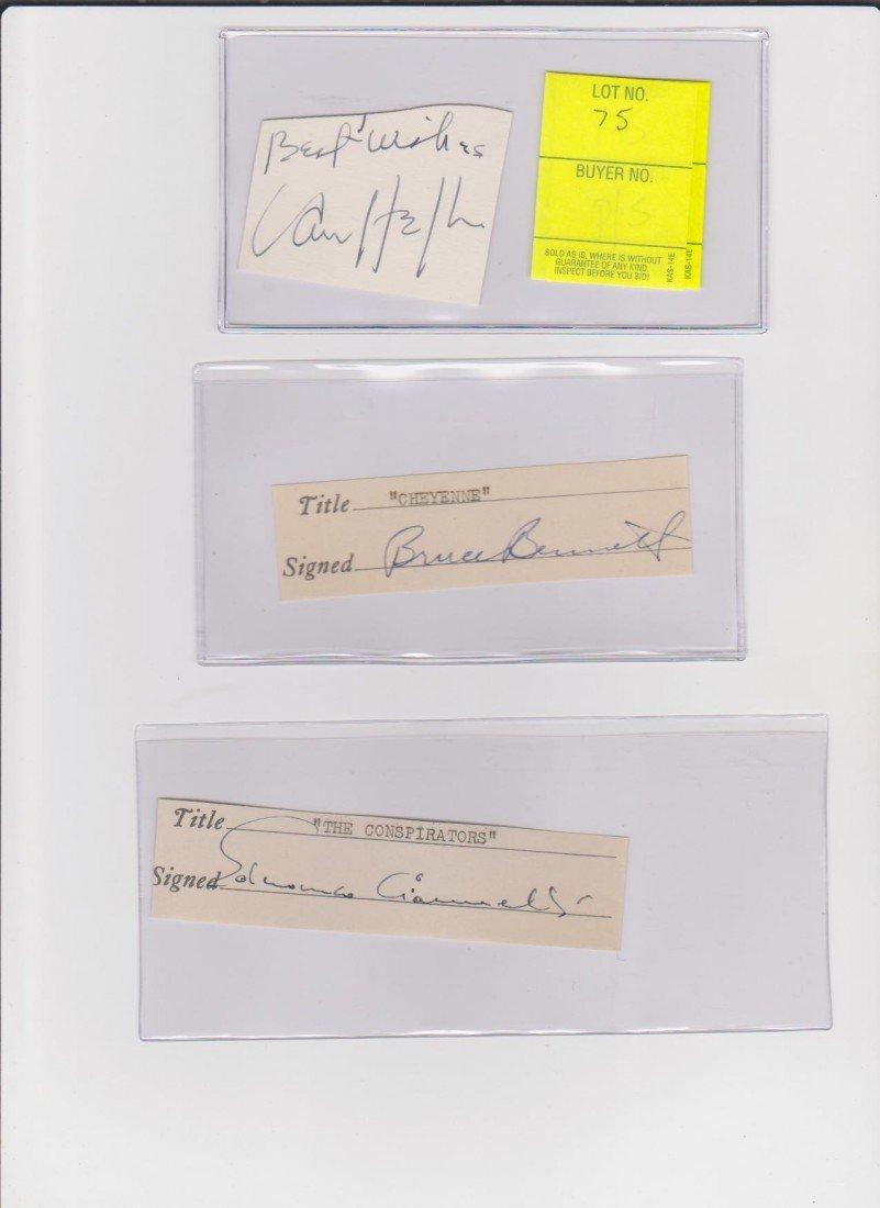 75: Van Heflin 1910-1971 Autograph Signature, Actor of