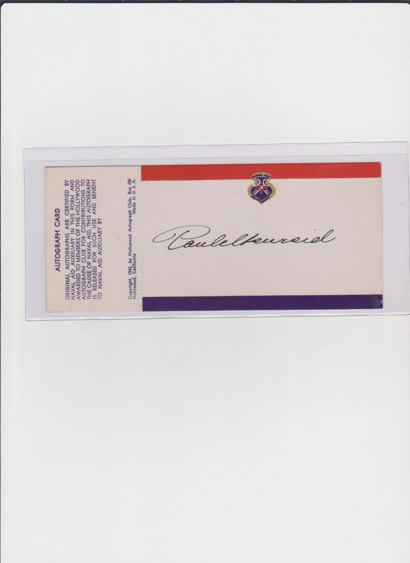 77: Paul Henreid 1908-1992 Signed Autograph Card, Austr