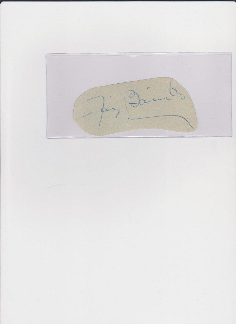 78: Fay Bainter 1893-1967, Autograph Signature, America