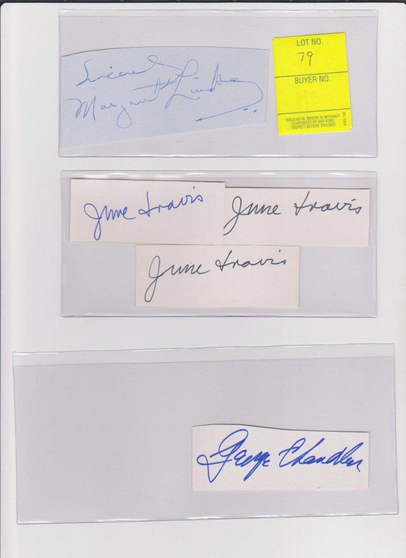 79: Collection of Autograph Signatures: Margaret Lindsa