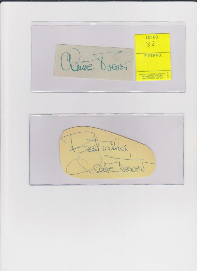 82: Claire Travor 1910-2000 Autograph Signature America