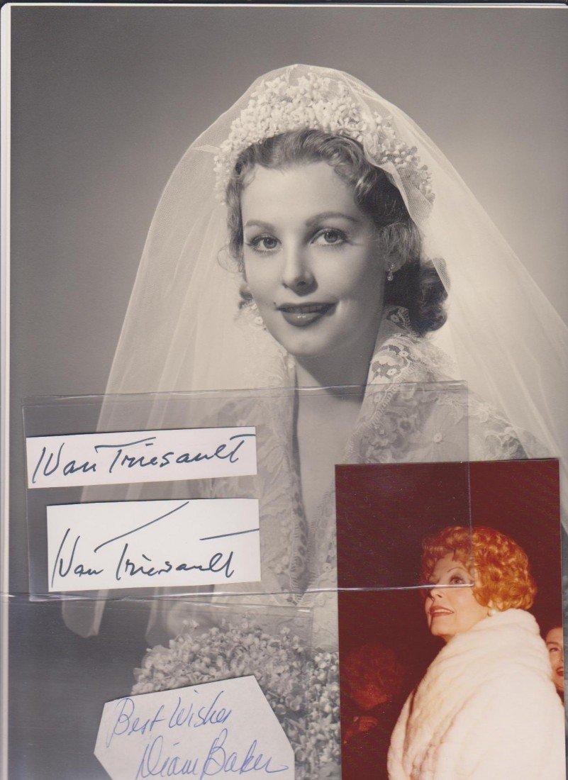 85: Ivan Triesault 1898-1980 2 autogragphed signatures