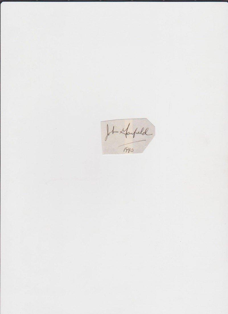 86: John Garfield 1913-1952 autographed signature Ameri