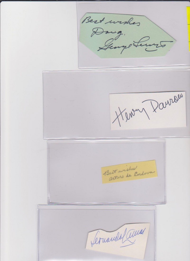90: Collection of Autograph Signatures to Include: Geor