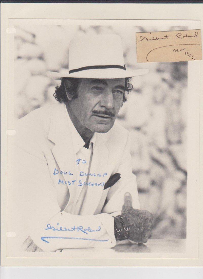 91: Gilbert Roland 1905-1994, Autograph Signature & Sig