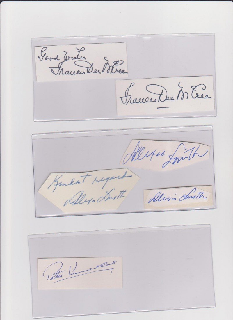 92: Collection of Autograph signatures of actors & actr