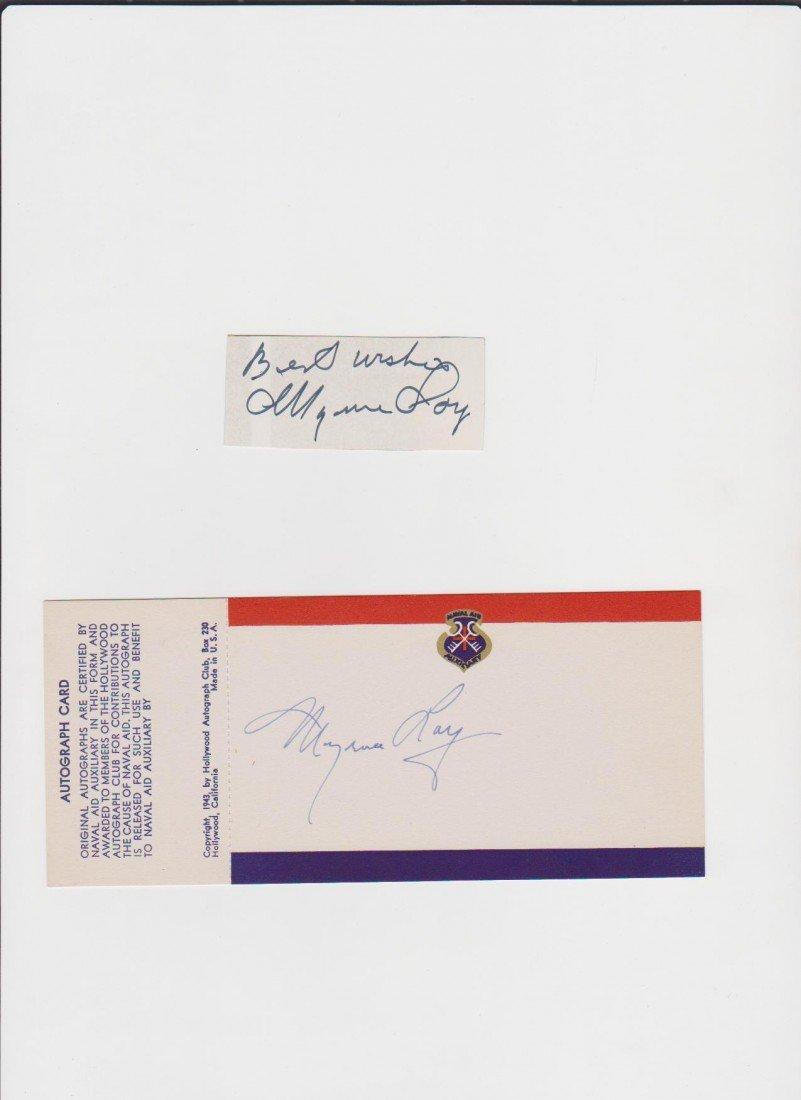 94: Myrna Loy 1905-1993 Autograph Card & Autograph Sign