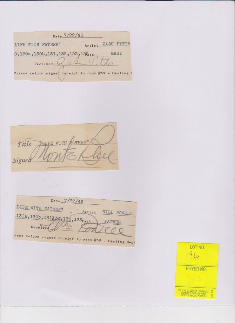 96: Collection of 3 Signed Documents from July 22, 1946