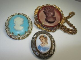 3: Collection of Three (3) Cameos