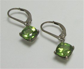 18: Stearling Silver and Peridot Earrings and Two (2) M