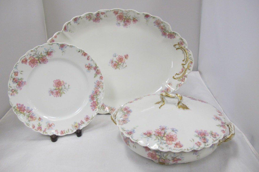 4: Haviland Limoges France Porcelain Soup Tureen, Large