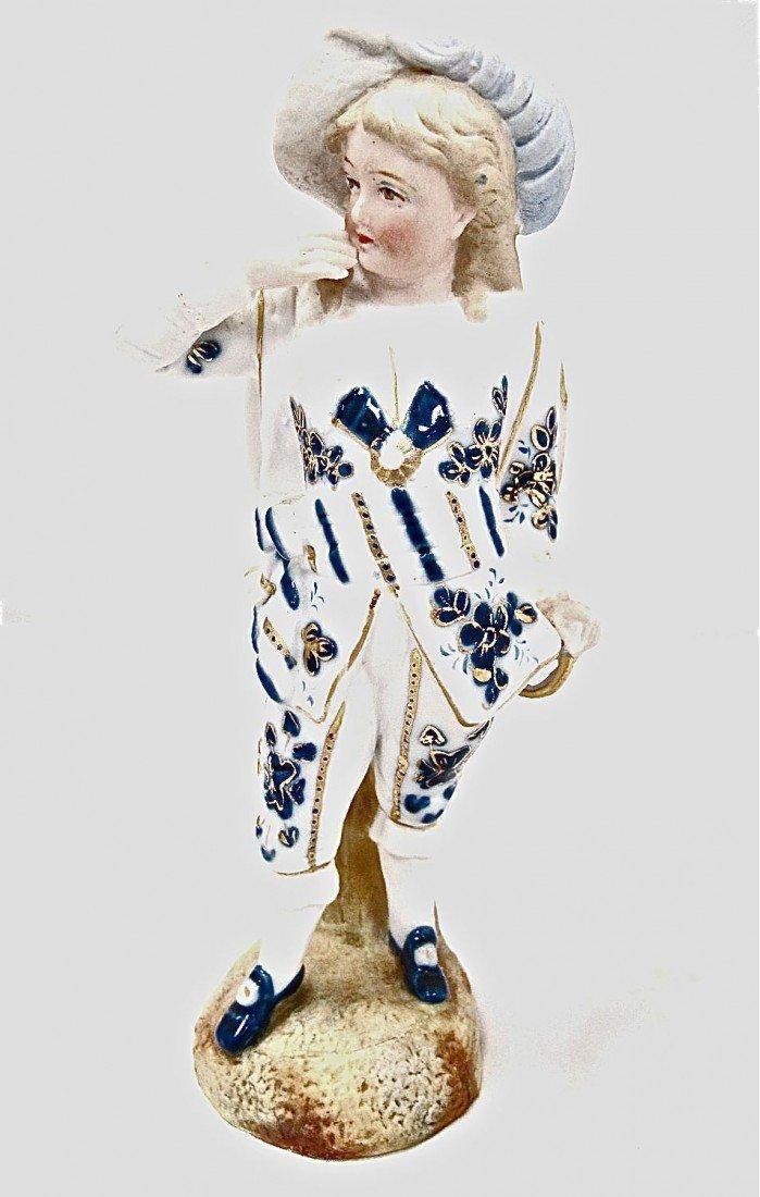 "6: Porcelain Bisque Figurine, 8.5"" high"