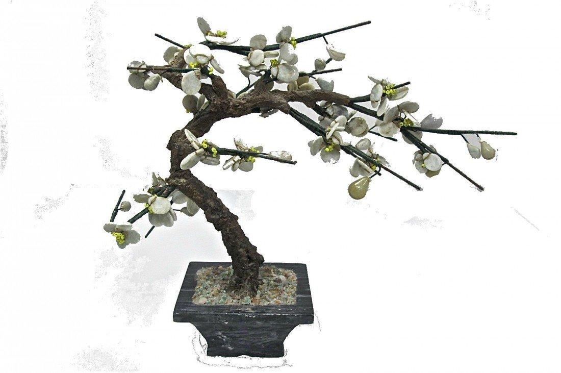 "11: Jade Bonzai Tree on Jade Base, 8.5"" high"