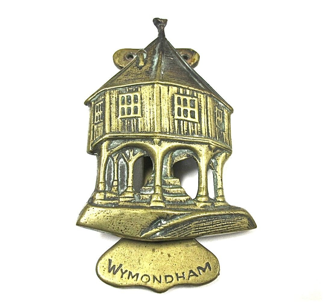 "13: 19th Century, English Brass Door Knocker, ""Wymondha"