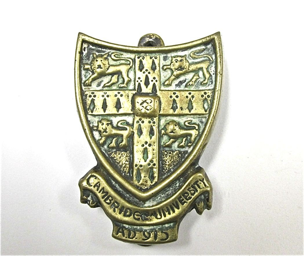 "14: 19th Century, English Brass Door Knocker, ""Cambridg"