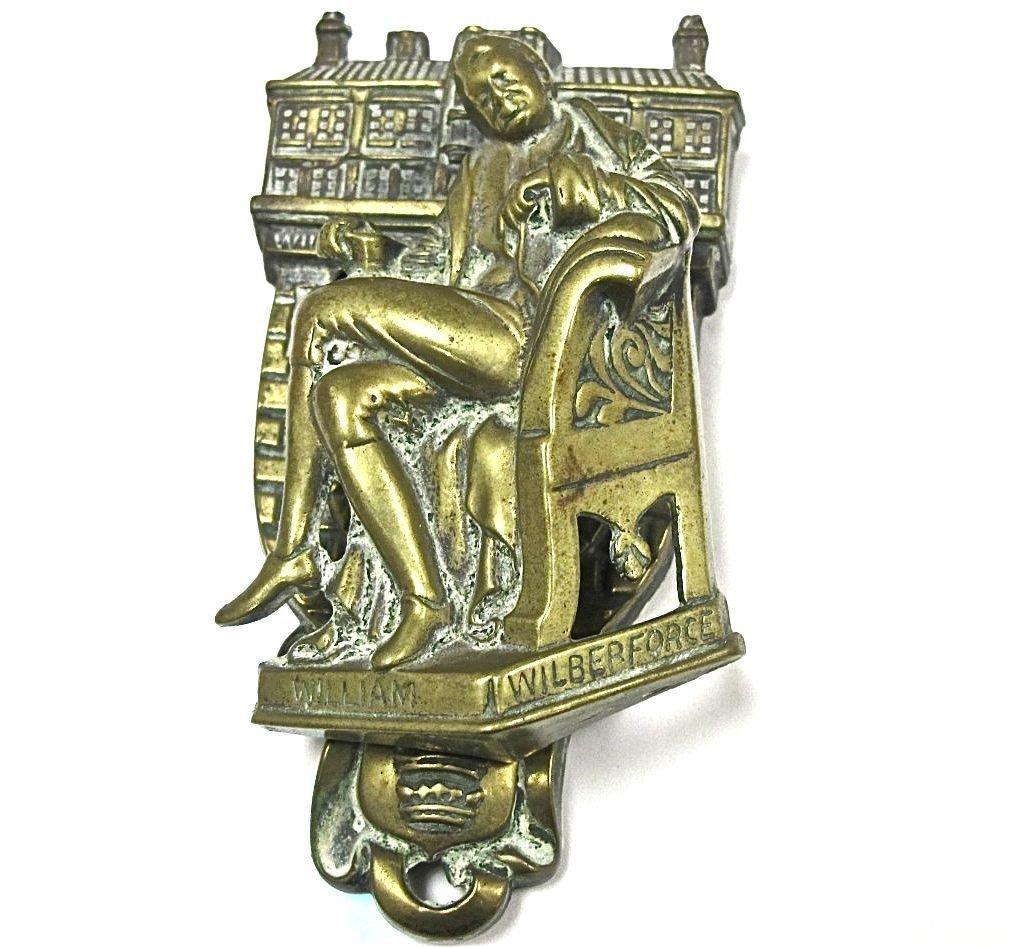 "15: 19th Century, English Brass Door Knocker, ""William"