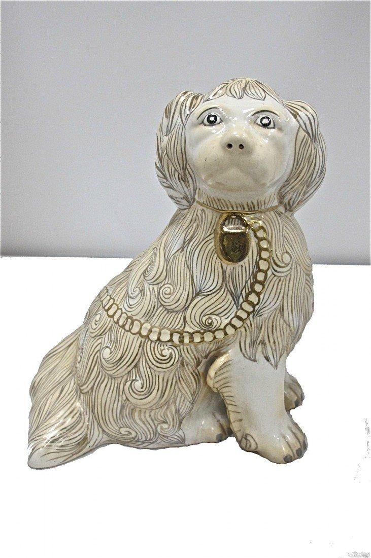 """16: 10"""" Porcelain Dog Figurine"""