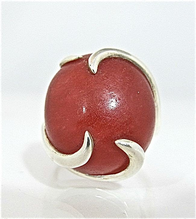 24: Sterling Silver and Cornelian Ring