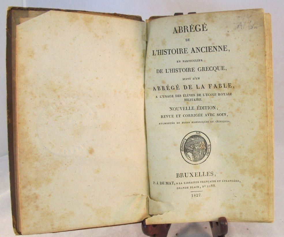 3: Abrege de L'Histoire Ancienne En Particulier De L'Hi