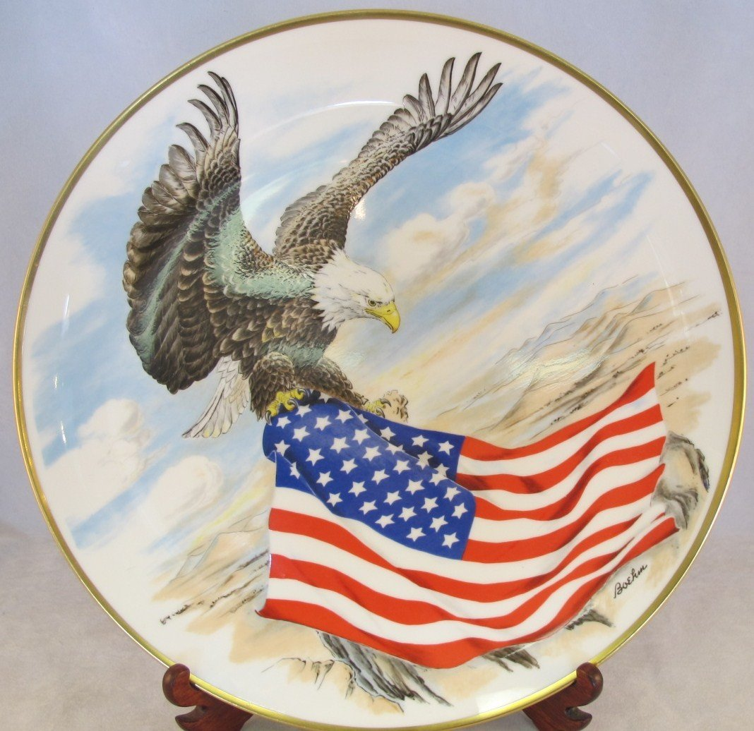 23: Boehm Patriot Eagle, Commemorative English Bone Chi