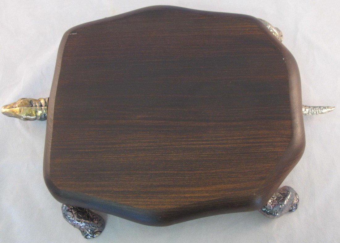 24: Silver Plated Turtle Style Cheese Tray