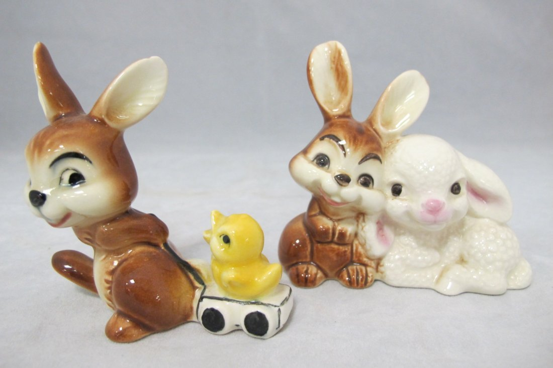 17: 2 Goebel Porcelain Bunny Figurines, Germany