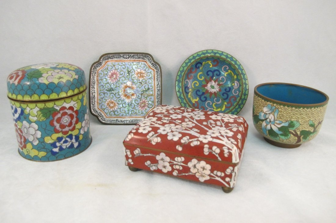 47: Collection of Chinese Cloisonne Including Covered B
