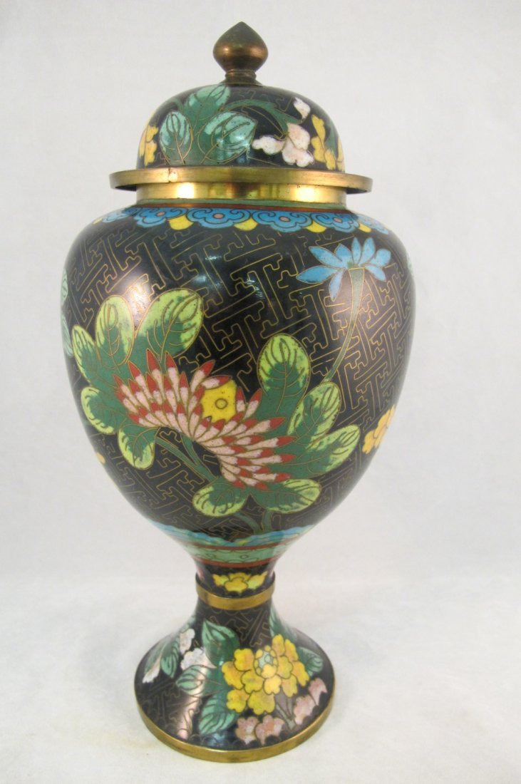 48: Large Cloisonne Covered Jar
