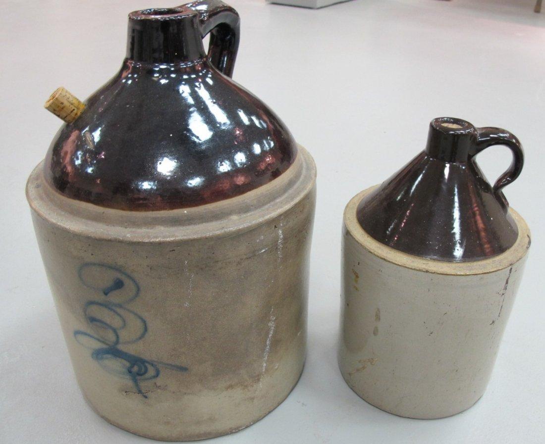 73: 2 Antique Stoneware Jugs, 19th Century